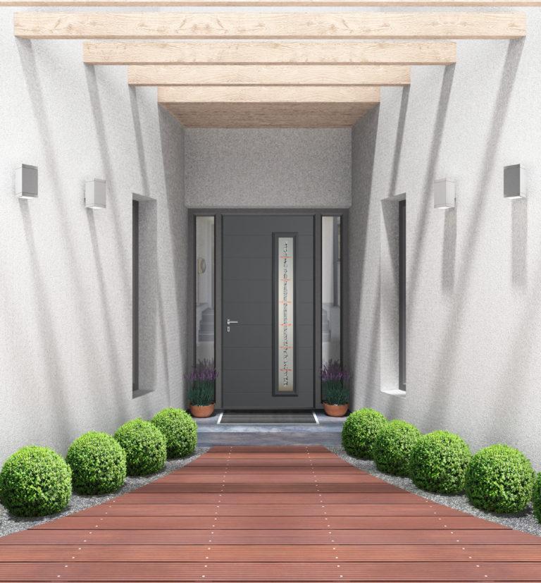 modèle de porte d'entrée aluminium