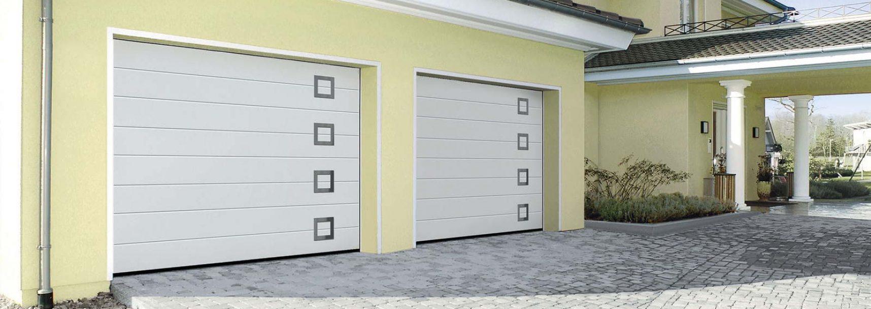 Portes de garage sectionnelles blanches conform énergie design allier Auvergne pvc