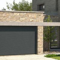 Porte de garage enroulable conform énergie allier Auvergne gris