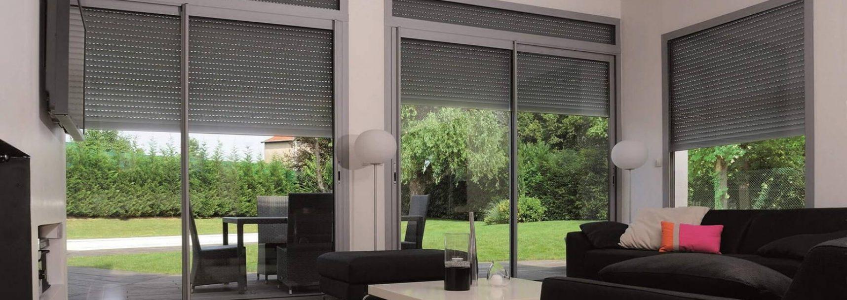 volets roulants conform Allier Auvergne énergie gris design baie vitrée